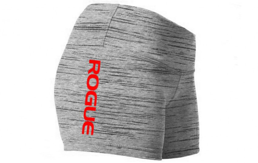 WOD GEAR CLOTHING WIDE BAND BOOTY SHORTS Gray