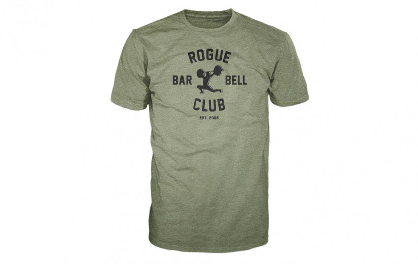 ROGUE BARBELL CLUB 2.0 SHIRT GREEN