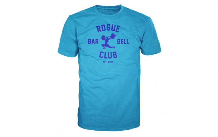 ROGUE BARBELL CLUB 2.0 SHIRT TURQUOISE