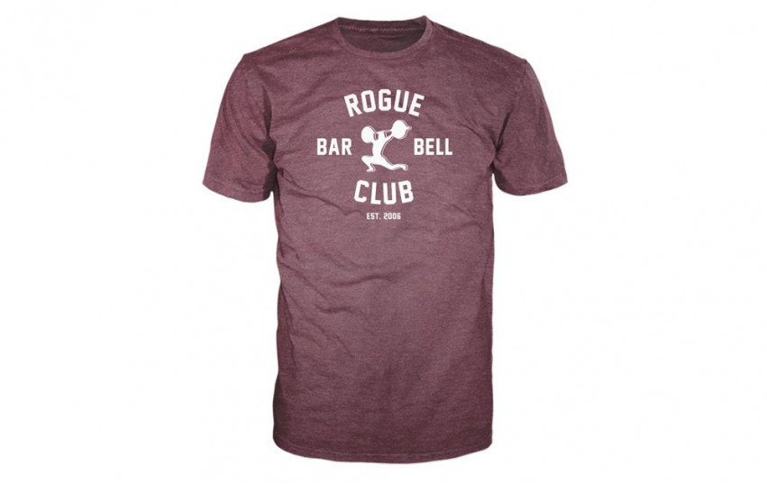 ROGUE BARBELL CLUB 2.0 SHIRT MAROON