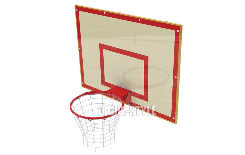 Щит баскетбольный школьный с креплением к стене (120х90)