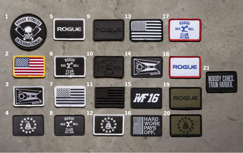 ROGUE USA NYLON LIFTING BELT LEATHER PATCHES