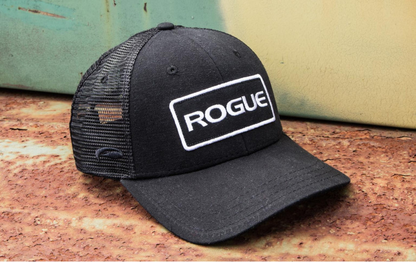 ROGUE PATCH TRUCKER HAT BLACK