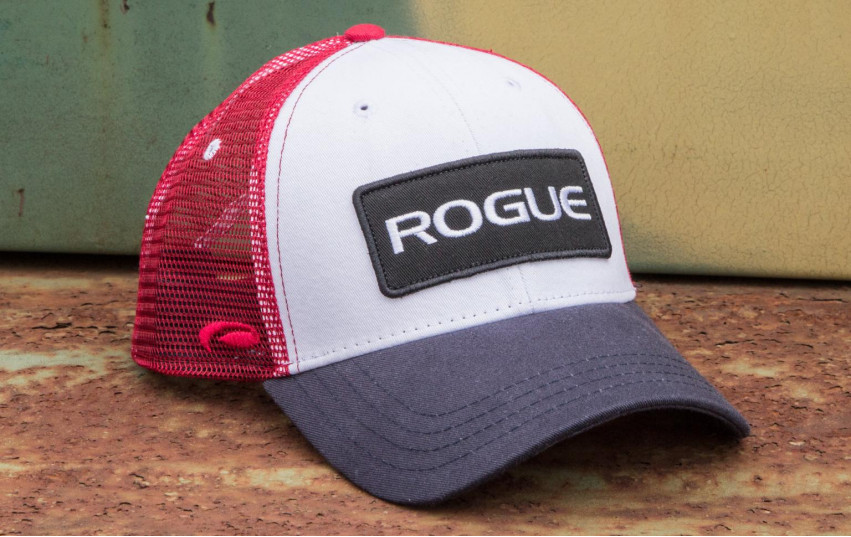 ROGUE PATCH TRUCKER HAT RED WHITE BLUE