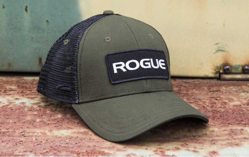 ROGUE PATCH TRUCKER HAT OLIVE BLACK