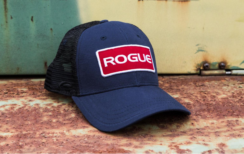 ROGUE PATCH TRUCKER HAT NAVY BLACK