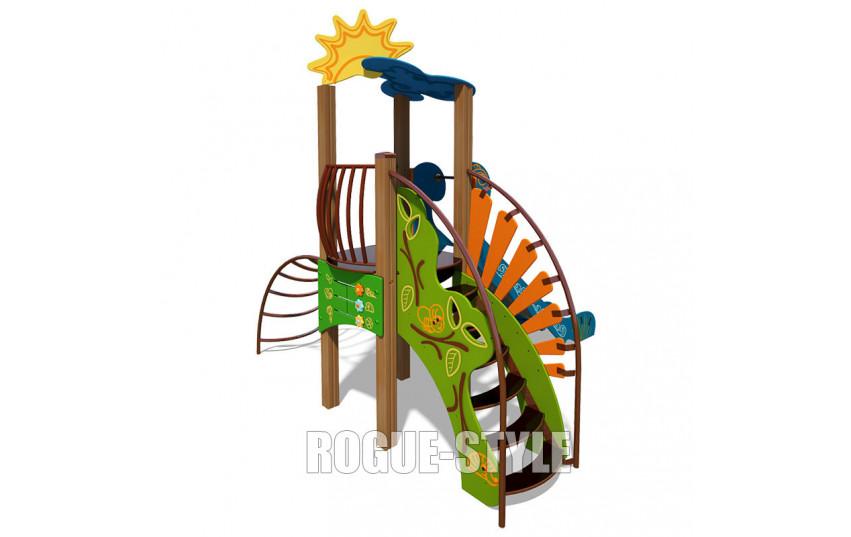 """Игровой комплекс """"Ручеек"""" (стальная лестница и ограждение с пазлом) TE701"""