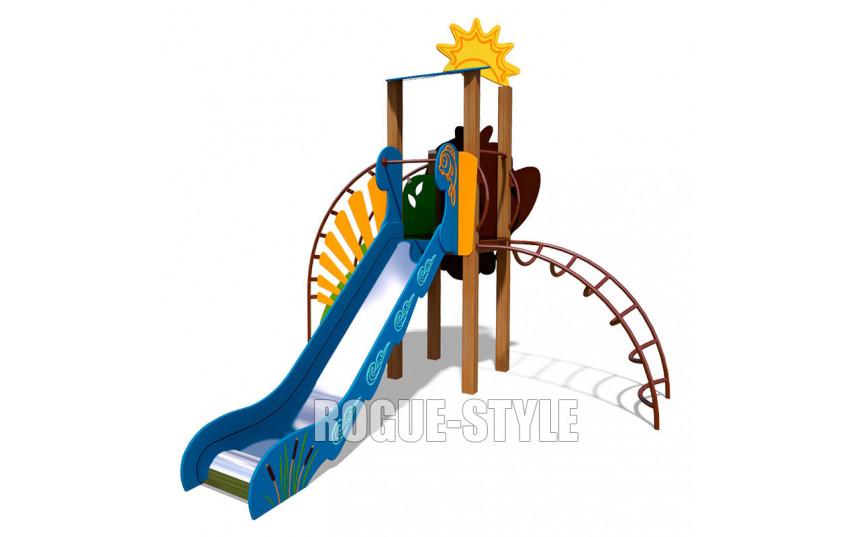 """Игровой комплекс """"Ручеек"""" (стальная лестница, декоративная панель """"Сова"""") TE701.1"""