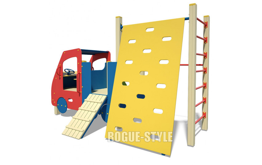 Машинка с гимнастическим комплексом